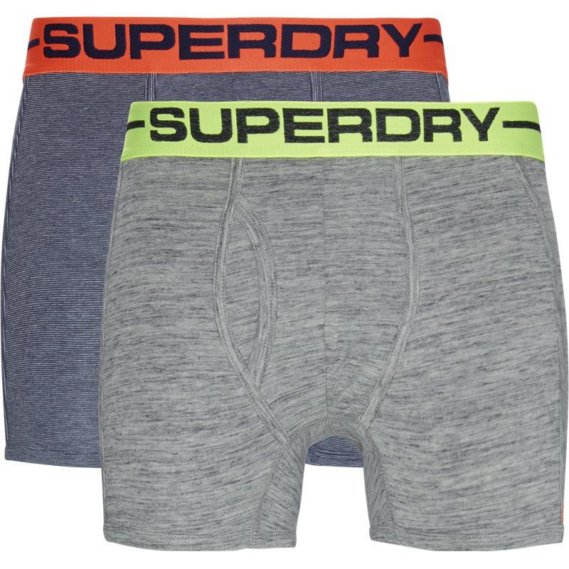 superdry Superdry m31107nt 2-pack tights navy mel på quint.dk